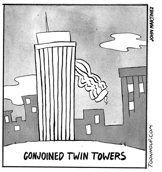 Conjoined Twin Towers