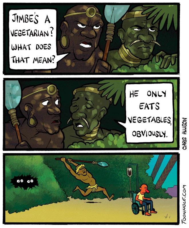 Vegetarians Eat Vegetables