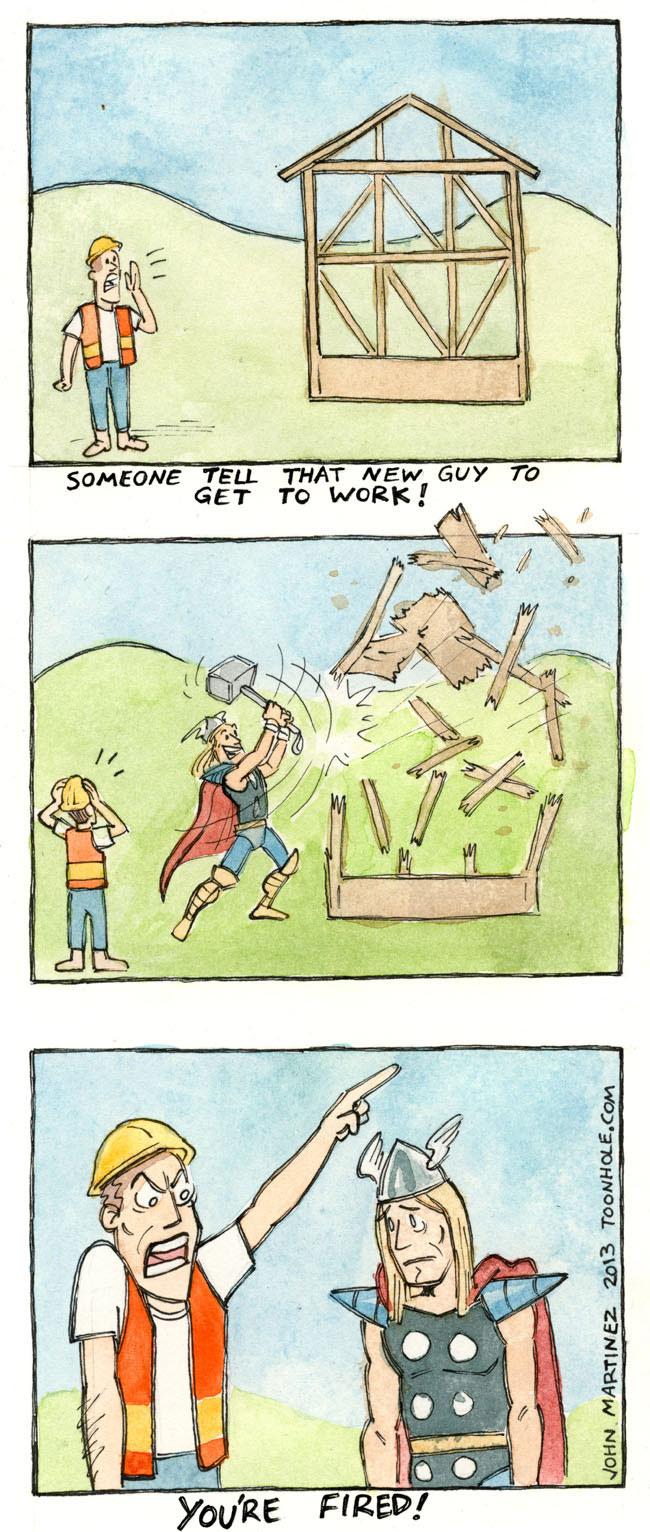 Thor's New Job