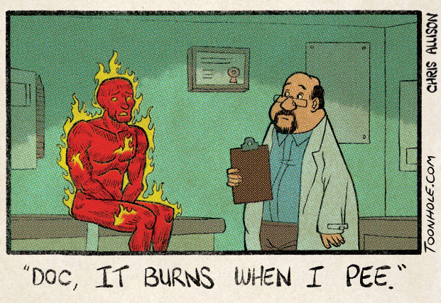 Human Torch Doctor Visit
