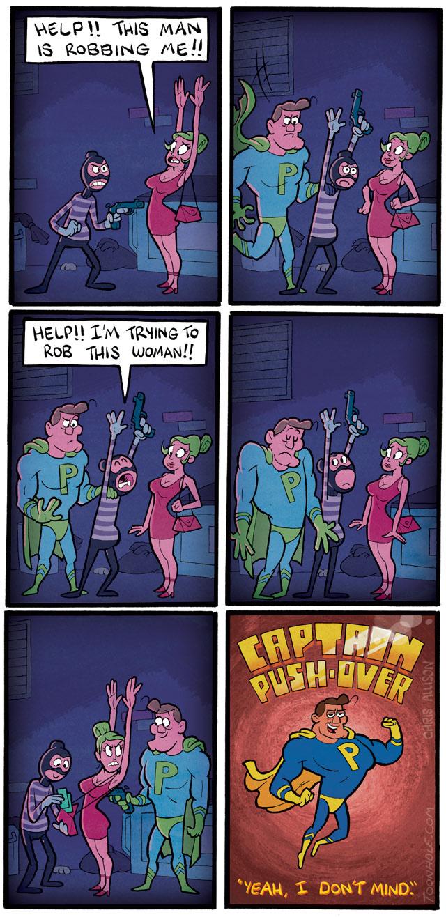 Captain Pushover
