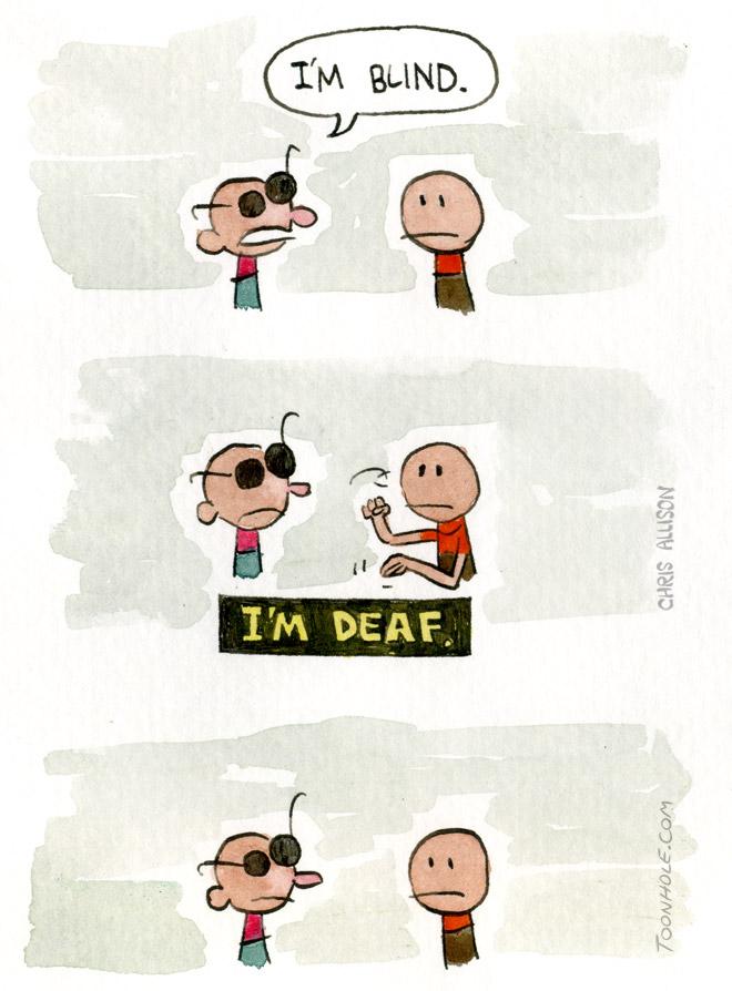 Blind Man Deaf Man